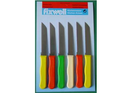 Kitchen Knives - 6 pcs. card