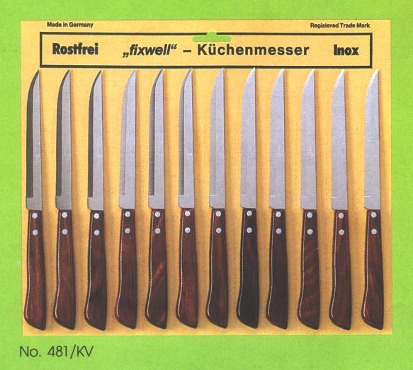 Steak Knives - 12 pcs. card